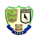 1996 ARL Warriors v Magpies Streets Pin Badge