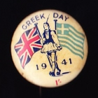Comforts Greece Button Badge 33mm 1s