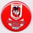 2010 St George Illawarra Dragons NRL Premiers SS Button Badge