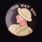 Tin Hat Day Button Badge 33mm 2s