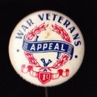 War Veterans Button Badge 33mm 1s