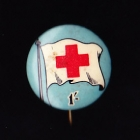 Red Cross Button Badge 22mm 1s