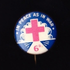 Red Cross Button Badge 22mm 6d
