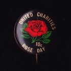 Rose Day Button Badge 22mm 10c