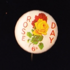 Rose Day Button Badge 22mm 6d
