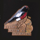1955 Gould League of Bird Lovers Victoria Red-Capped Robin Badge Pin La