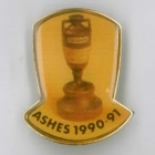 1990-91 Ashes Urn Tetley Pin Badge