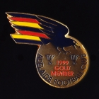 1999 Adelaide Crows AFL Gold Member Pin Badge