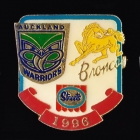 1996 ARL Warriors v Broncos Streets Pin Badge