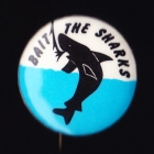 1968 Cronulla Sharks NSWRL Anti Supporter Scanlens Button Badge