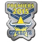2015 North Queensland Cowboys NRL Premiers LE Pin Badge