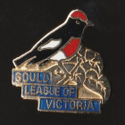 1974 Gould League of Victoria Red-Capped Robin Badge Pin BBa