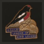 1955 Gould League of Bird Lovers Victoria Red-Capped Robin Badge Pin SHFb