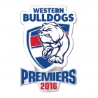 2016 Western Bulldogs AFL Premiers Logo Pin Badge