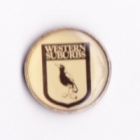 1994 Western Suburbs Magpies NSWRL Silver Butterfly Pin Badge