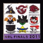 2011 NRL Finalists Pin Badge