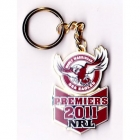2011 Manly Warringah Sea Eagles NRL Premiers Large Keyring Badge