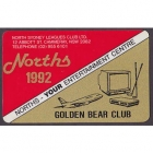 1992 North Sydney Leagues Club Member Card