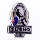 2010 Collingwood Magpies AFL Premiers Pin Badge a