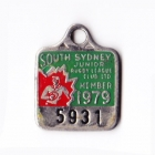 1979 South Sydney Juniors Leagues Club Member Badge