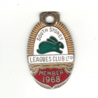 1968 South Sydney Leagues Club Member Badge