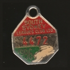 1986 South Sydney Leagues Club Member Badge