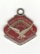 1968-69 Manly Warringah Leagues Club Member Badge