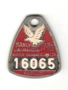 1977-78 Manly Warringah Leagues Club Member Badge