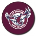 2009 Manly Warringah Sea Eagles NRL Logo SS Button Badge