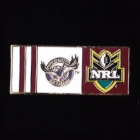 2010 Manly Warringah Sea Eagles NRL Away Pin Badge