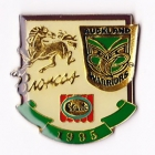 1995 ARL Broncos v Warriors Streets Pin Badge