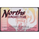 1996 North Sydney Leagues Club Member Card