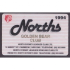 1994 North Sydney Leagues Club Member Card