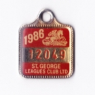 1986 St George Leagues Club Member Badge