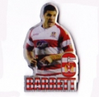 2008 Super League Player Trent Barrett No 6 Pin Badge