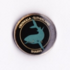 1994 Cronulla Sutherland Sharks NSWRL Silver Butterfly Pin Badge