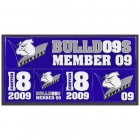 2009 Canterbury Bankstown Bulldogs NRL Member Stickers