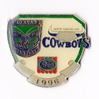 1996 ARL Warriors v Cowboys Streets Pin Badge