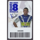 2009 Canterbury Bankstown Bulldogs NRL Member Card