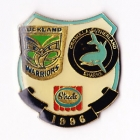 1996 ARL Warriors v Sharks Streets Pin Badge