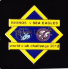 2012 WCC Sea Eagles v Leeds Pin Badge bs1