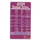 2009 Brisbane Broncos NRL Season Draw Magnet