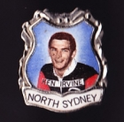 1967 North Sydney Bears NSWRL Captain Ken Irvine Daily Mirror Pin Badge
