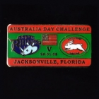 2008 Australia Day Challenge Rabbitohs v Leeds Pin Badge cn