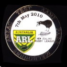 2010 RL Test Australia v New Zealand Pin Badge n
