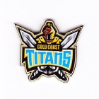 2007 Gold Coast Titans NRL Logo Trofe Pin Badge