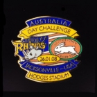 2008 Australia Day Challenge Rabbitohs v Leeds Pin Badge bs1