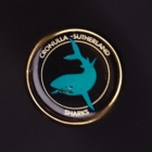 1992 Cronulla Sutherland Sharks NSWRL Billy Tea Pin Badge