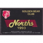 1993 North Sydney Leagues Club Member Card