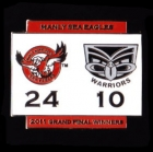2011 NRL Grand Final Score Sea Eagles v Warriors Pin Badge